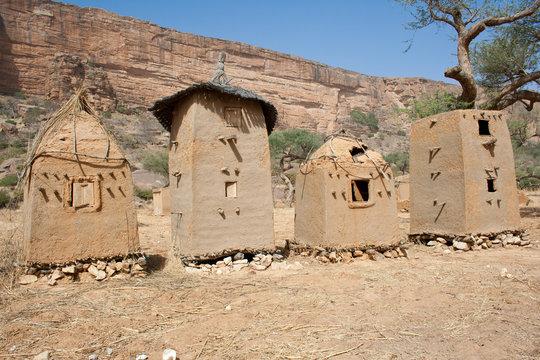 Granary in a Dogon village, Mali (Africa).