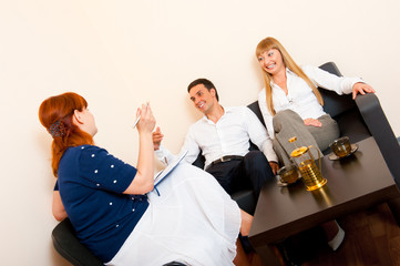 Married couple consults at the psychologist