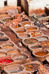 Tanneries, Fes Morocco