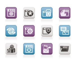 Internet, website and  Security Icons