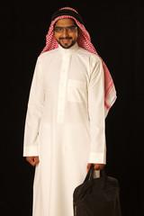 Arab male model travelling