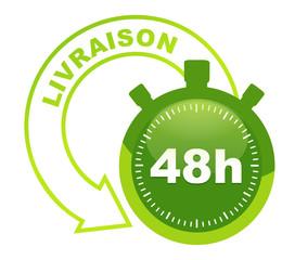 Fototapete - livraison 48 h sur symbole validé vert