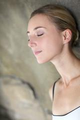 Portrait of beautiful woman relaxing in spa resort