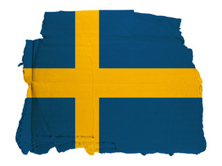 Antica Bandiera Svezia su Cartone