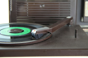 retro analog turntable from the seventies