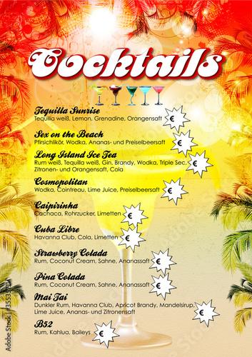 Cocktailkarte Vorlage\