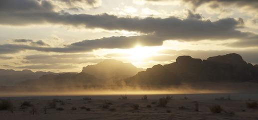 SUNSET IN WADI RUM DESERT (I), JORDAN