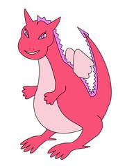 Pink dragon girl