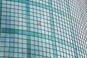 green glass facade