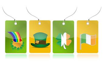 irish set of tags illustration