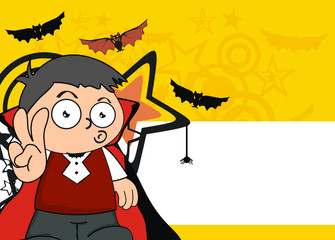 dracula kid cartoon hallooween background9