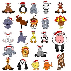 Cute Christmas Animal Set