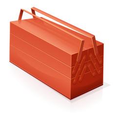 Boîte à outils rouge fermée (reflet)