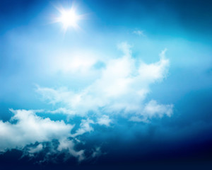 sunny sky background with clouds