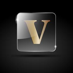 Logo golden letter V # Vector