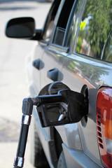Pump Filling Up the Car Gas Tank