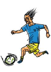 サッカー ドリブル soccer