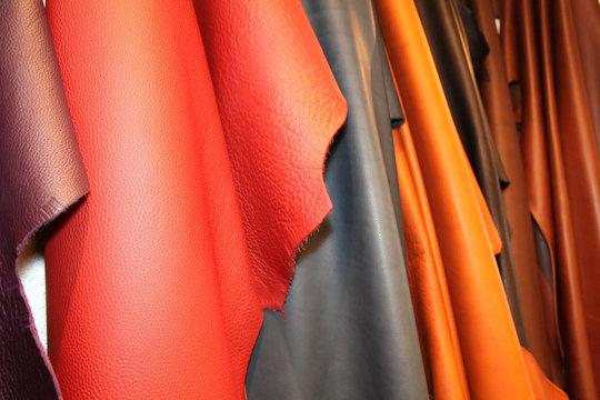 Set of multi-colored leather
