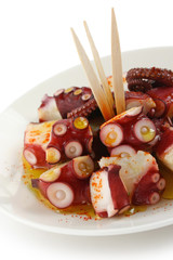 octopus galician style (pulpo a la gallega) , spanish tapas dish
