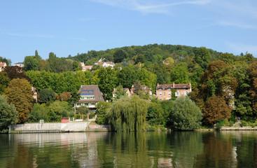France, la Seine à Triel Sur Seine