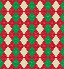 Christmas argyle pattern