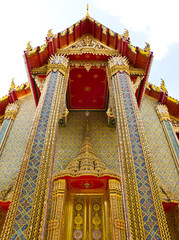 Wat Ratchabophit temple in Bangkok , Thailand