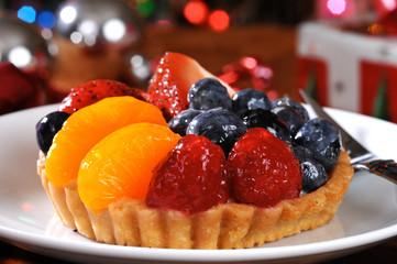 Fruit tart at Christmas