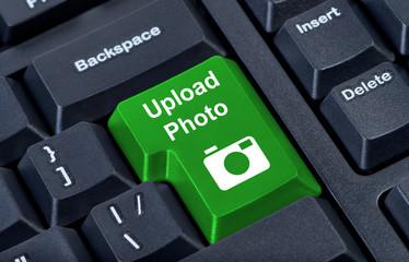 Keypad button upload with photo camera icon.
