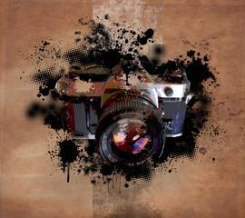 fond appareil photo argentique