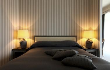 luxury apartment, interior, comfortable bedroom