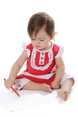 Kalemle çizim yapan bebek 2