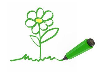 Green marker-pen