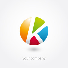 logo, logo entreprise, business logo, k