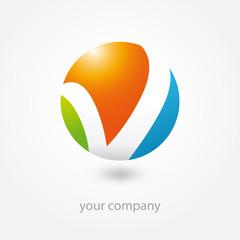 logo, logo entreprise, business logo, v