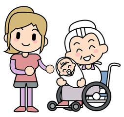 車椅子と赤ちゃん