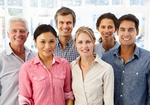 Mixed group business people in office