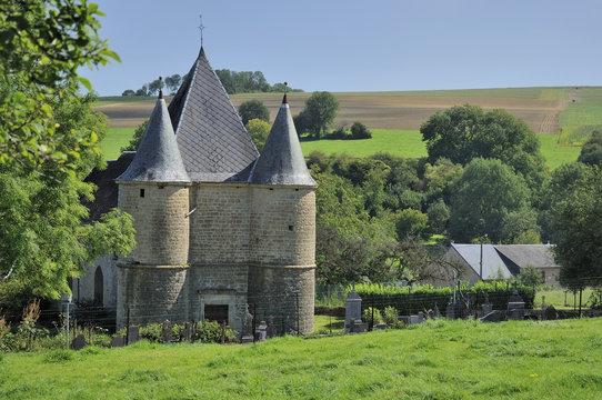 st etienne fortified church, sernion, ardennes