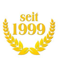 seit 1999 jubiläum lorbeerkranz lorbeer gold