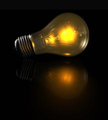 Glühbirne leuchtend - lightbulb glowing