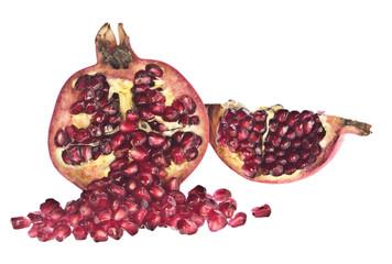 Offener Granatapfel mit Samen
