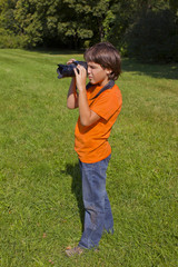 boy with photocamera