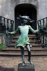 Skipping Girl bronze statue Monte Palace