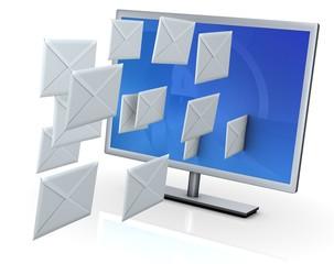 Monitor mit Briefen