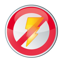 interdit, interdiction de prendre des photos avec flash