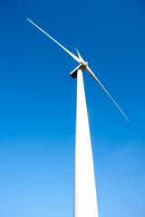 aerogenerator windmill in blue sky