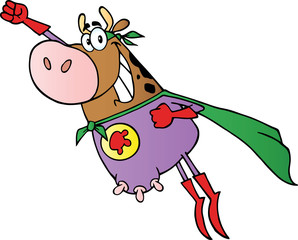 Super Hero Cow Fly