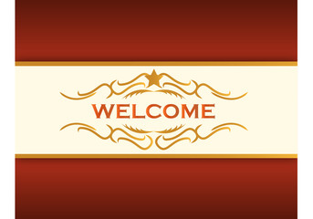 welcome illustration background gold design
