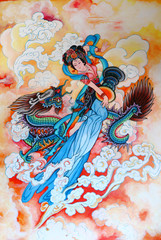 tradition Chinese painting on wall