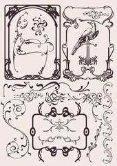 Set Of Art Deco Frames And Design Elements. Others In Portfolio.