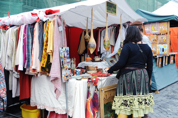 Clothing for sale in a street stall
